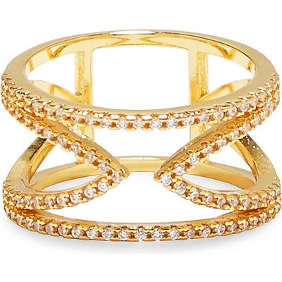 Vince Camuto Open-V Pave Ring