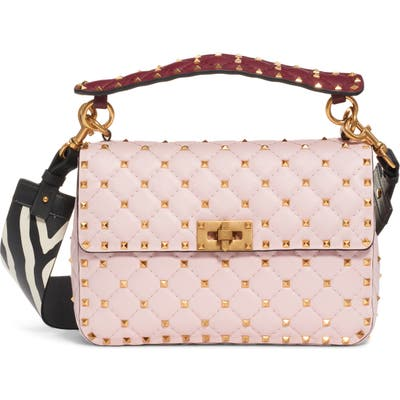 Valentino Garavani Spike It Leather Shoulder Bag - Pink
