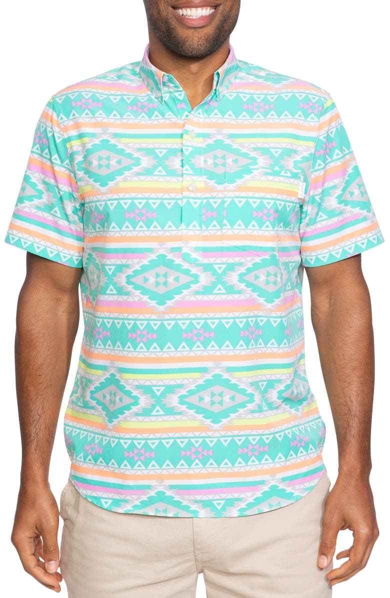 CHUBBIES The En Fuego Wild Woven Shirt, Main, color, EN FUEGO PRINT