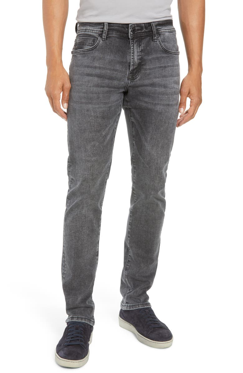 LIVERPOOL Kingston Slim Straight Leg Jeans, Main, color, BOWERY