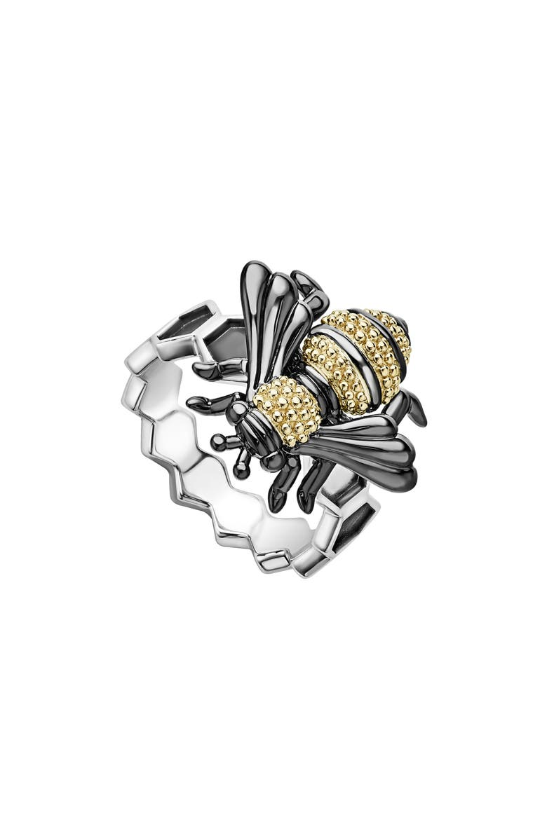 LAGOS Rare Wonders - Honeybee Ring, Main, color, SILVER/ GOLD