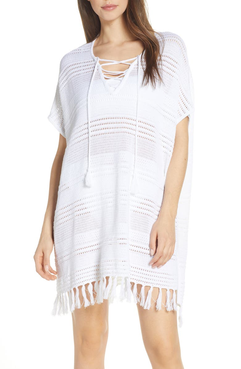 TOMMY BAHAMA Beach Cover-Up Sweater, Main, color, WHITE