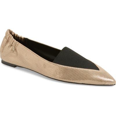 Mercedes Castillo Joay Pointy Toe Flat, Metallic