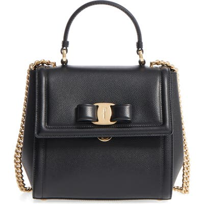 Salvatore Ferragamo Small Carrie Leather Bow Satchel -