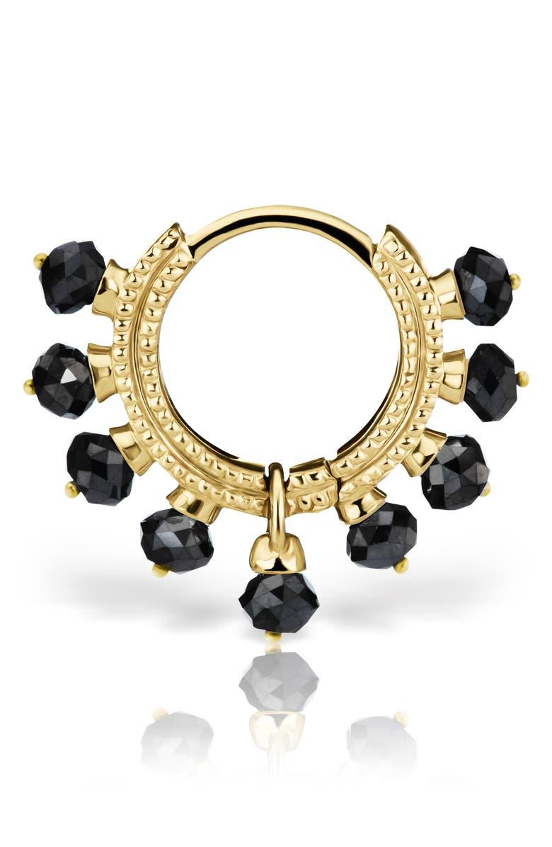 MARIA TASH Coronet Black Diamond Earring, Main, color, YELLOW GOLD