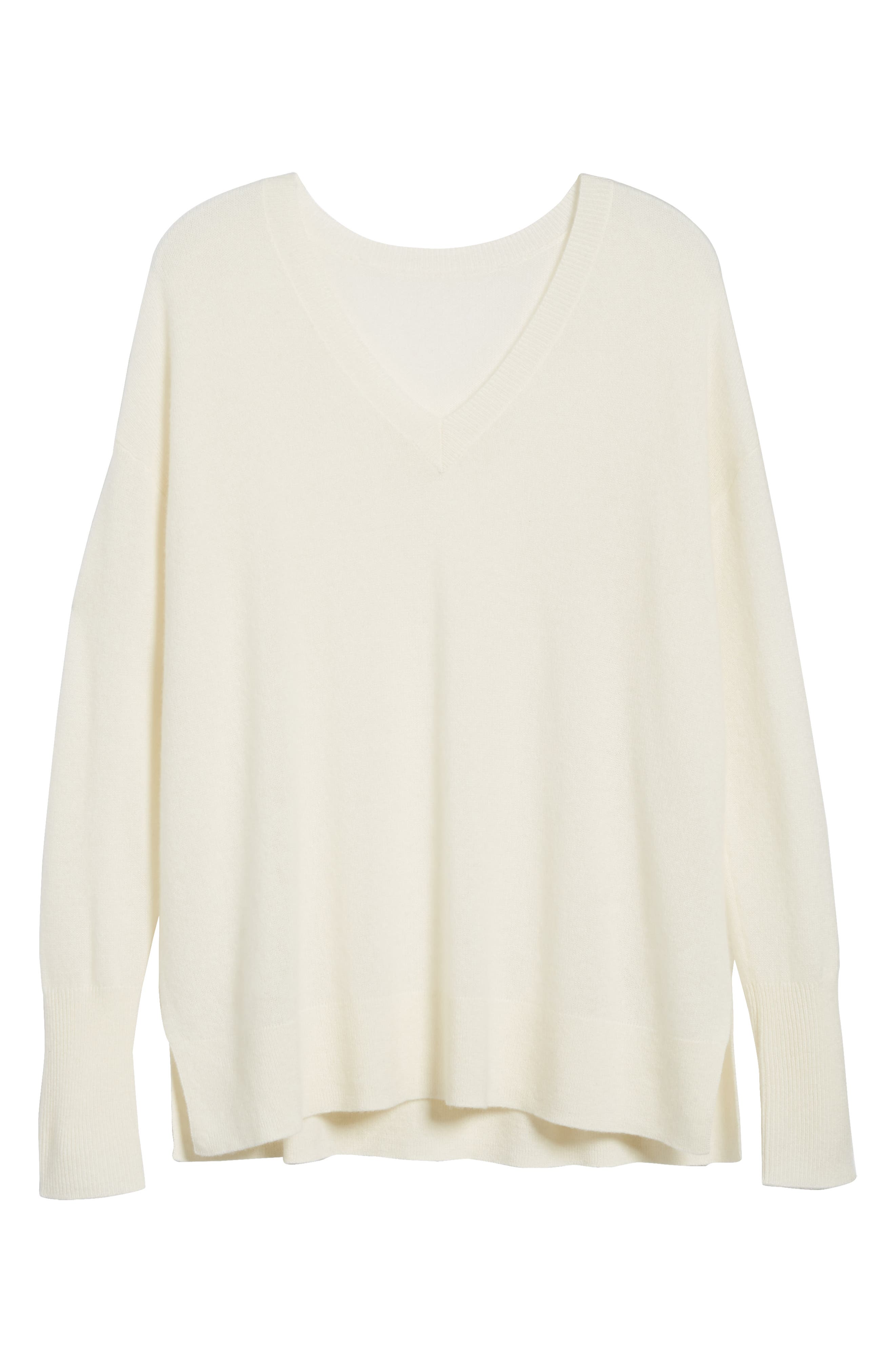 ,                             Relaxed V-Neck Cashmere Sweater,                             Alternate thumbnail 84, color,                             900