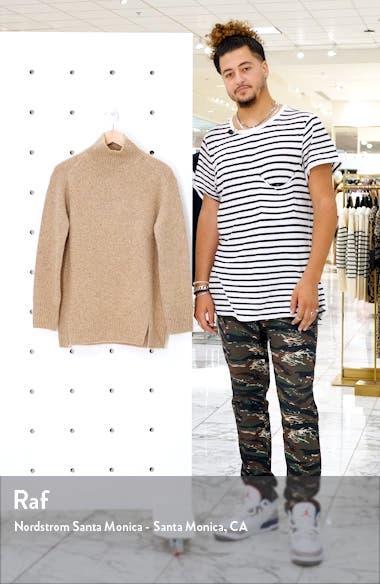 Double Slit Cashmere Turtleneck Sweater, sales video thumbnail