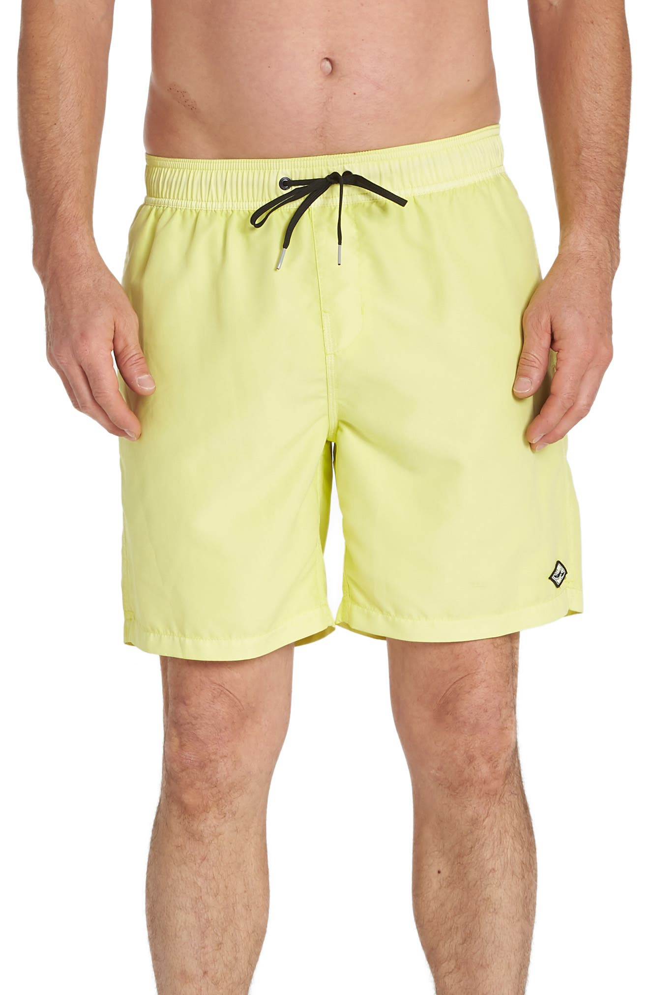 Billabong All Day Layback Swim Volley Trunks, Yellow