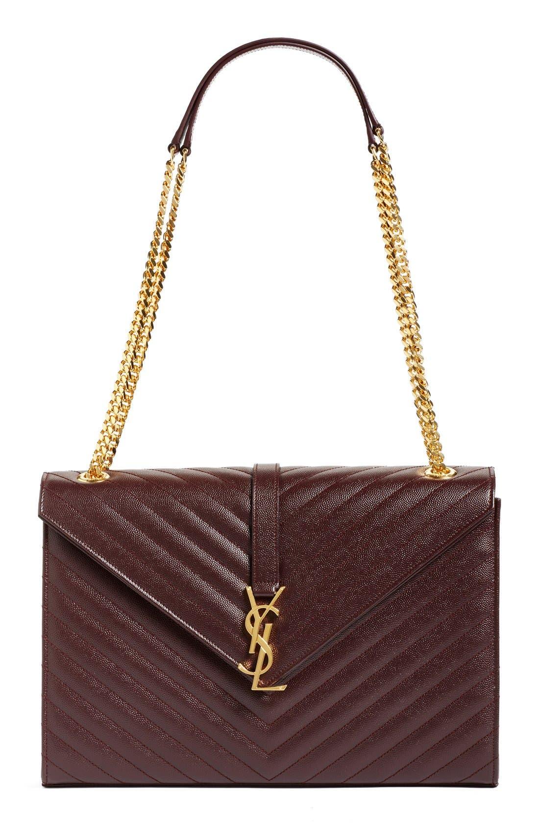 ,                             'Large Monogram' Grained Leather Shoulder Bag,                             Main thumbnail 30, color,                             606