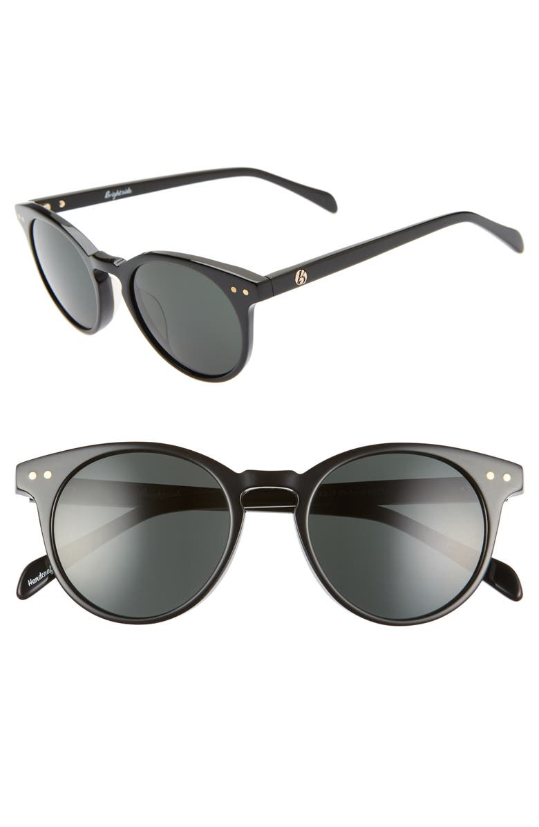BRIGHTSIDE Oxford 49mm Sunglasses, Main, color, BLACK/ GREY