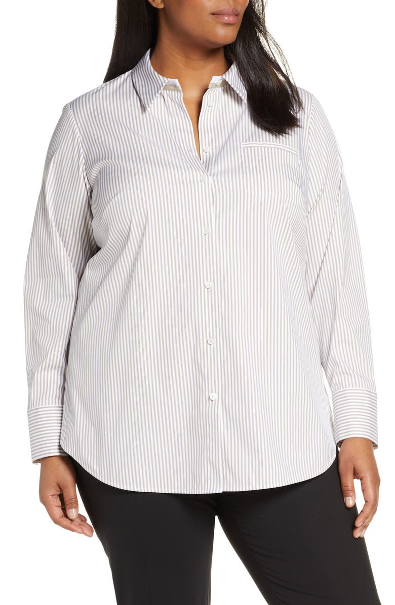 LAFAYETTE 148 NEW YORK Paget Stripe Blouse, Main, color, 250