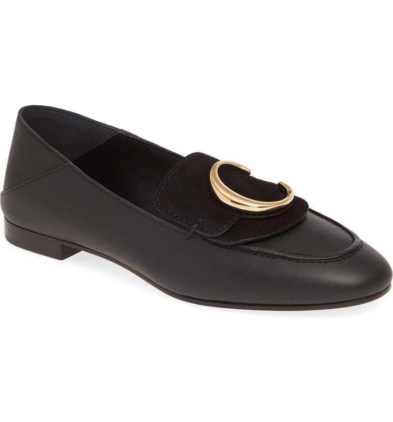 CHLOÉ C Convertible Loafer, Main, color, BLACK