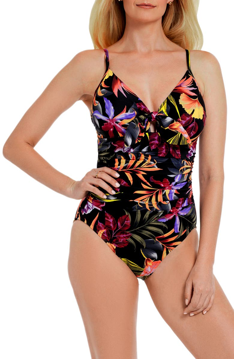 MAGICSUIT<SUP>®</SUP> Oasis Marcy One-Piece Swimsuit, Main, color, BLK/MULTI