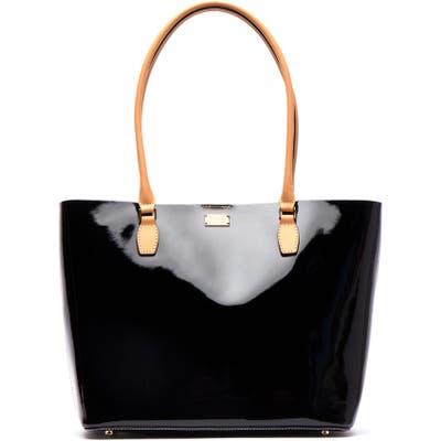 Frances Valentine Medium Trixie Patent Leather Tote - Black