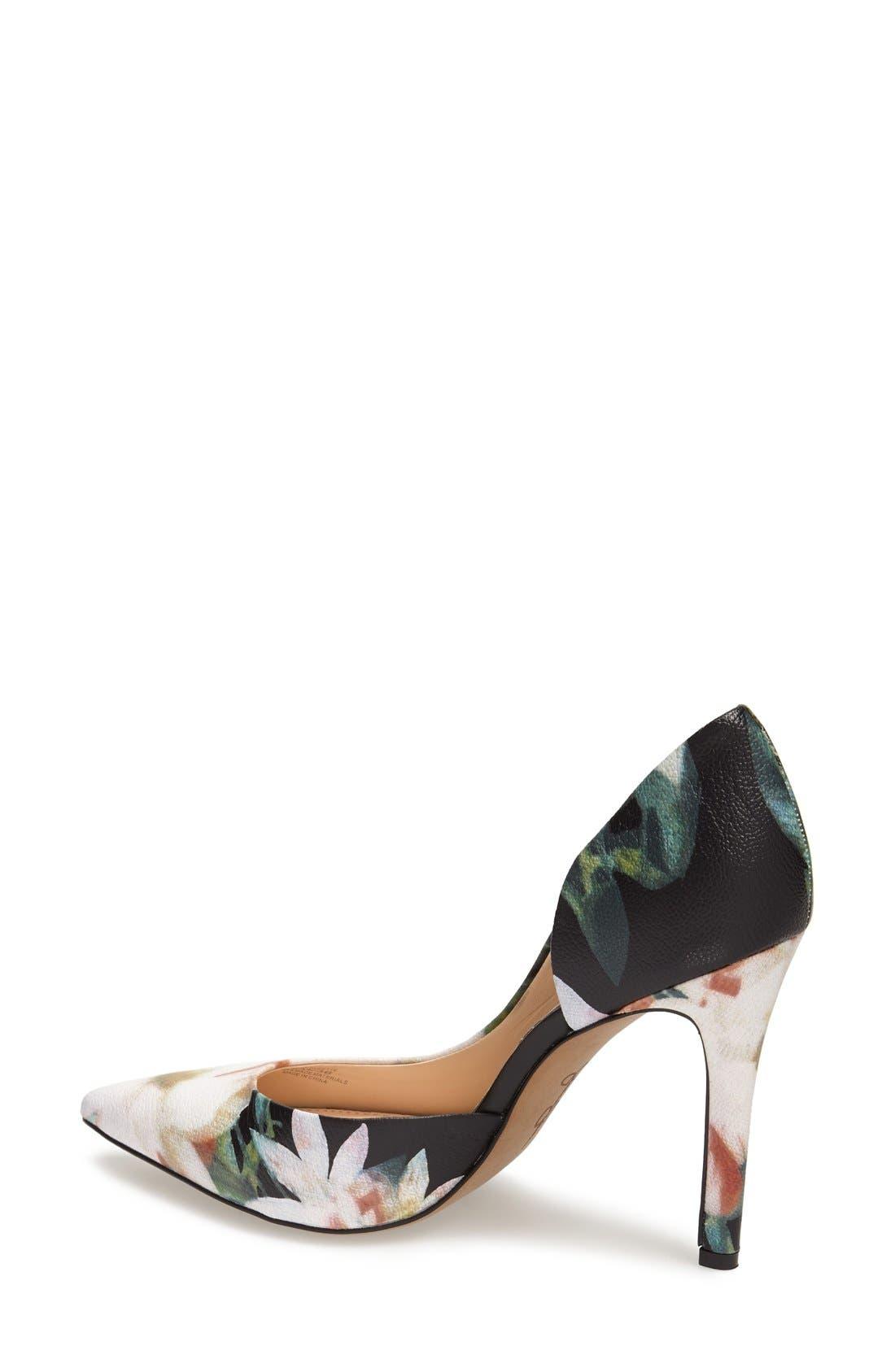 ,                             'Claudette' Half d'Orsay Pump,                             Alternate thumbnail 38, color,                             018