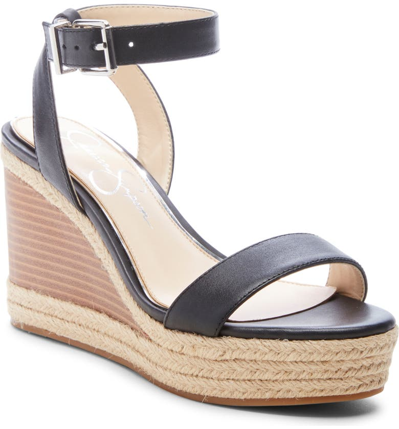 JESSICA SIMPSON Maylra Wedge, Main, color, BLACK