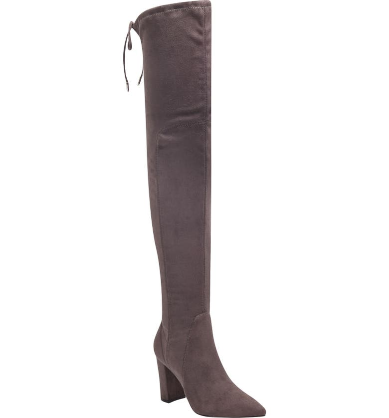 MARC FISHER LTD Ulona Over the Knee Boot, Main, color, GREY STRETCH