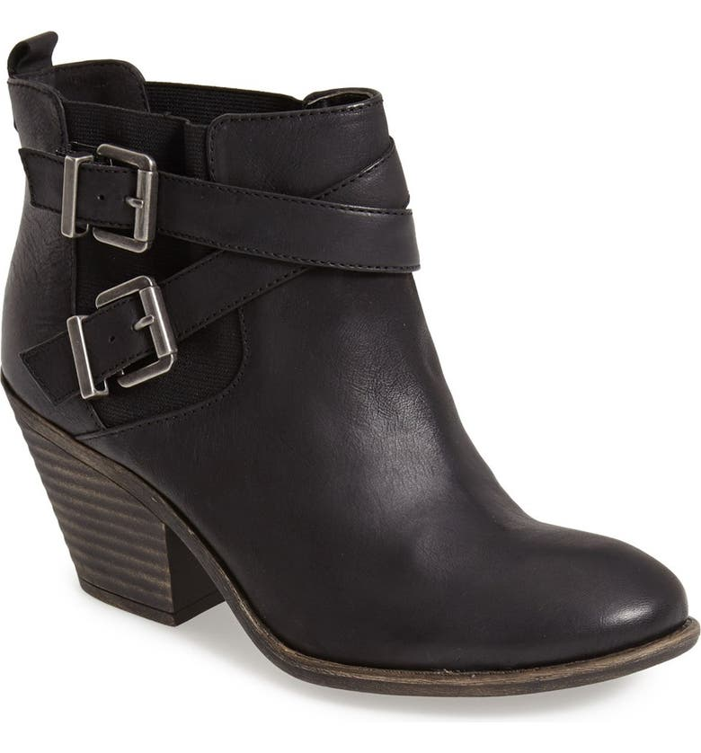 SOLE SOCIETY 'Maris' Leather Bootie, Main, color, 001
