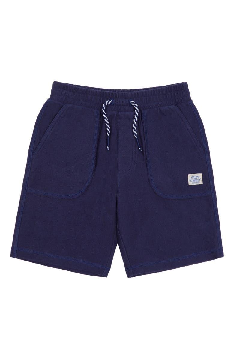 PEEK AREN'T YOU CURIOUS Jaxson Pull-On Shorts, Main, color, BLUE