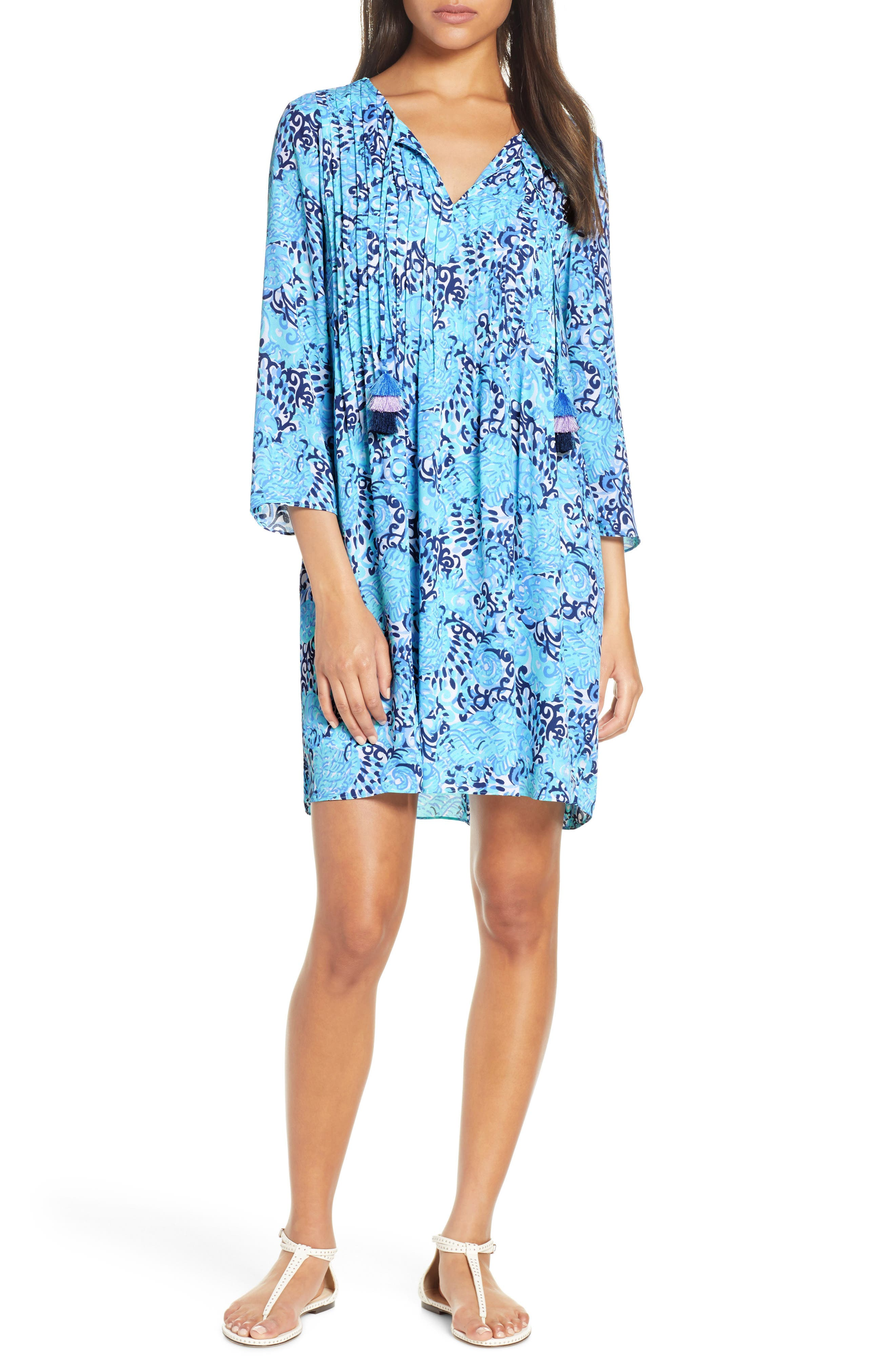 Lilly Pulitzer Marilina Tunic Dress, Blue