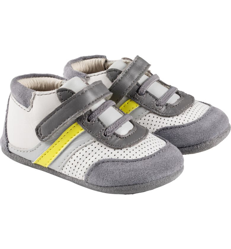 ROBEEZ<SUP>®</SUP> Everyday Ethan Crib Sneaker, Main, color, WHITE