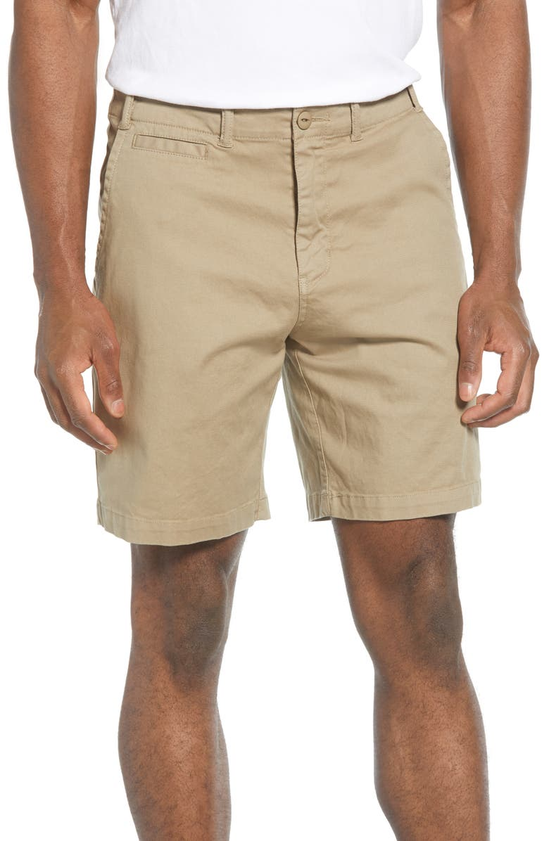REYN SPOONER Stretch Twill Shorts, Main, color, PAVEMENT GREY