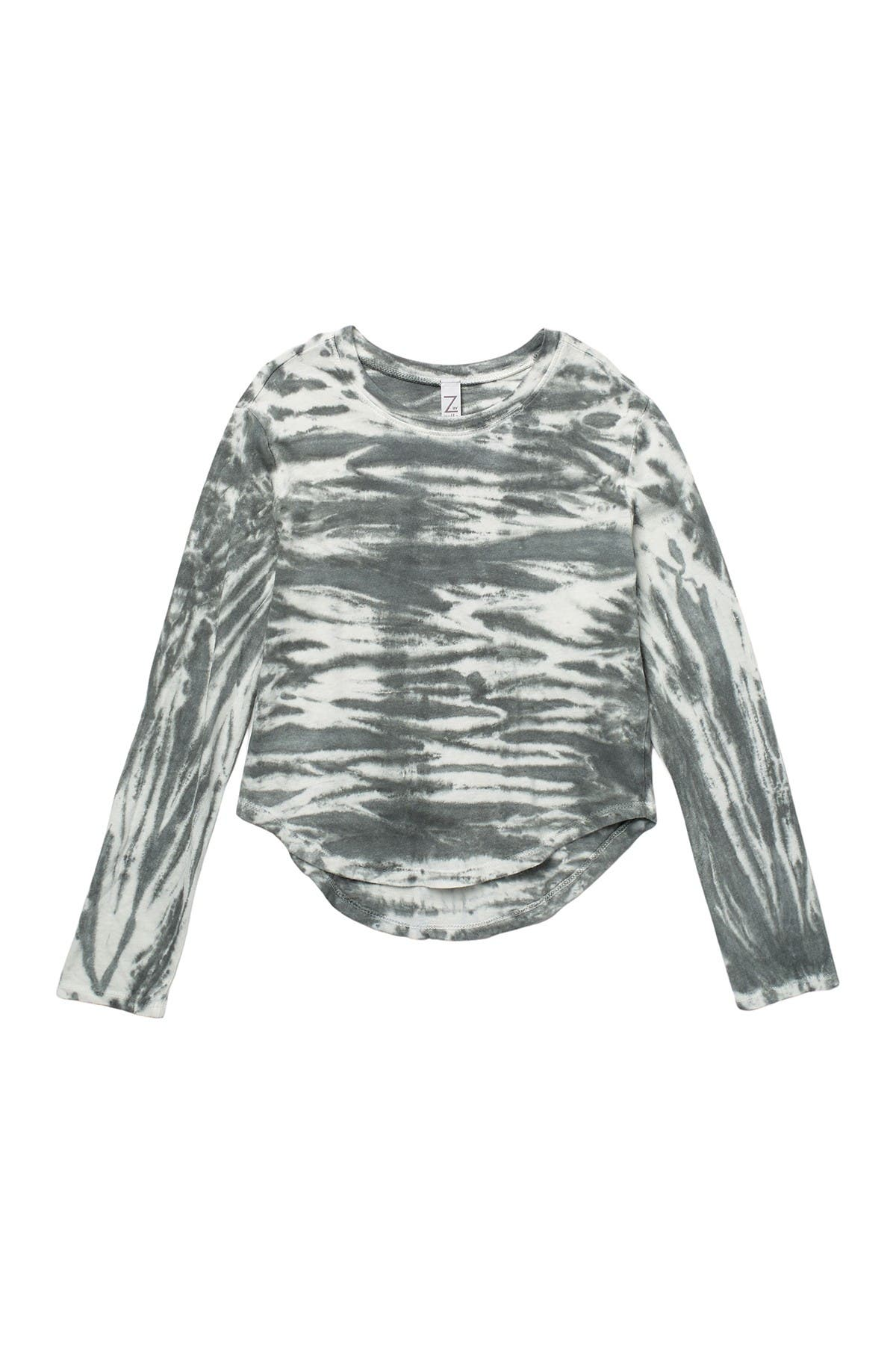 Image of Z by Zella Girl Long Sleeve Tie Dye Top