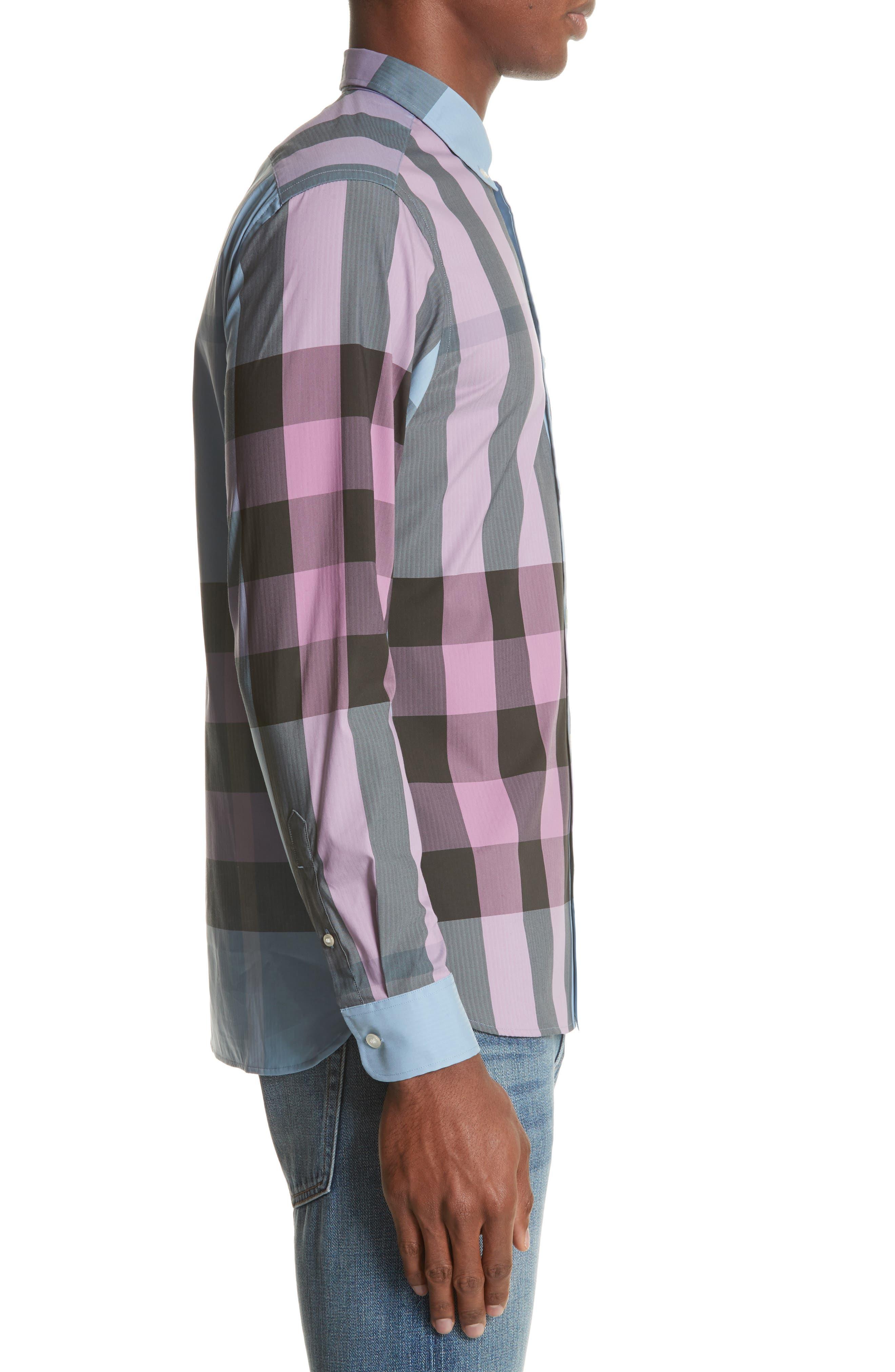 ,                             Thornaby Slim Fit Plaid Sport Shirt,                             Alternate thumbnail 15, color,                             405