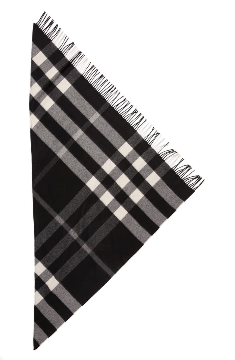 BURBERRY Mega Check Cashmere Scarf, Main, color, 001