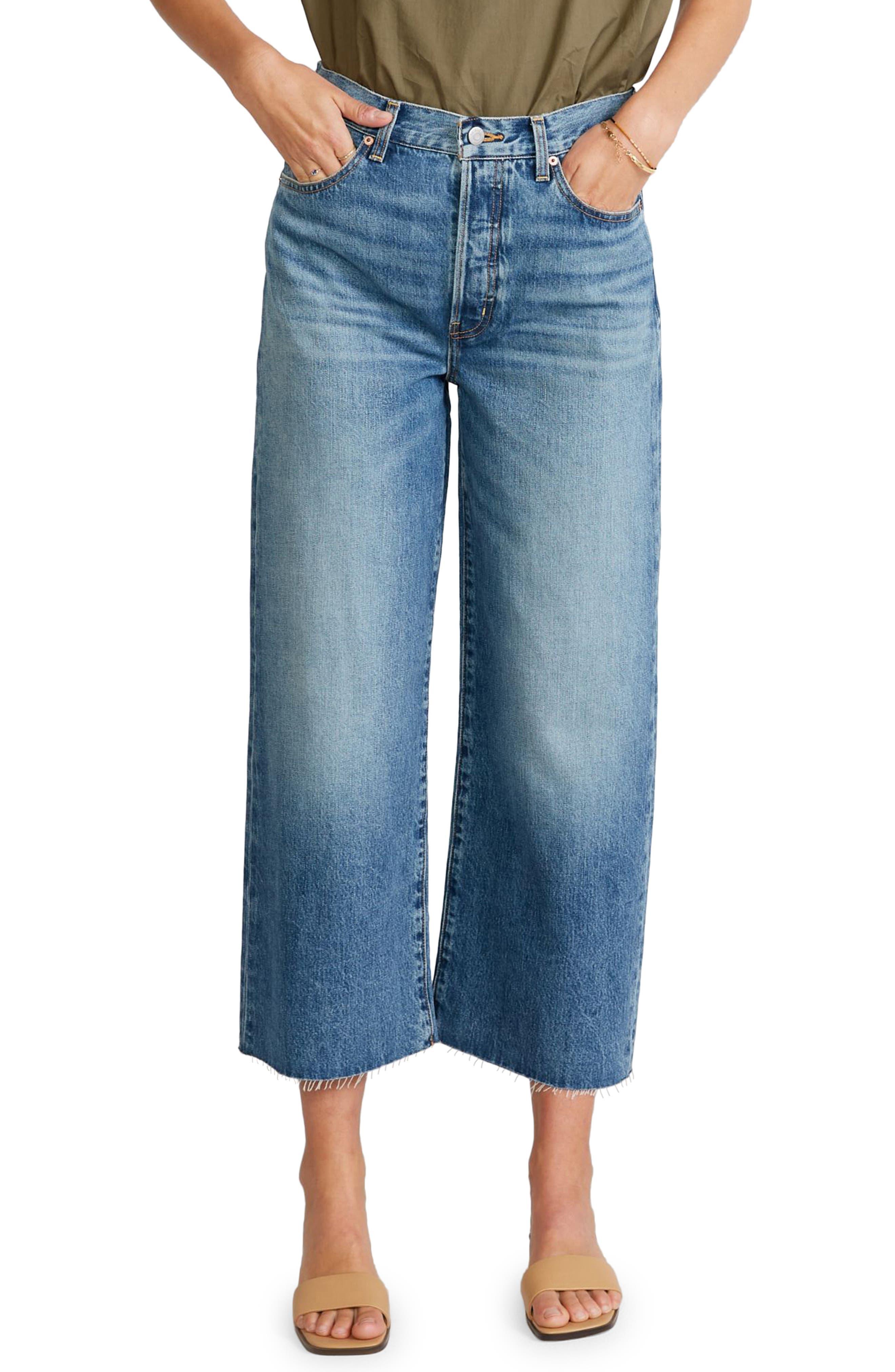 Women's Etica Devon High Waist Crop Wide Leg Jeans