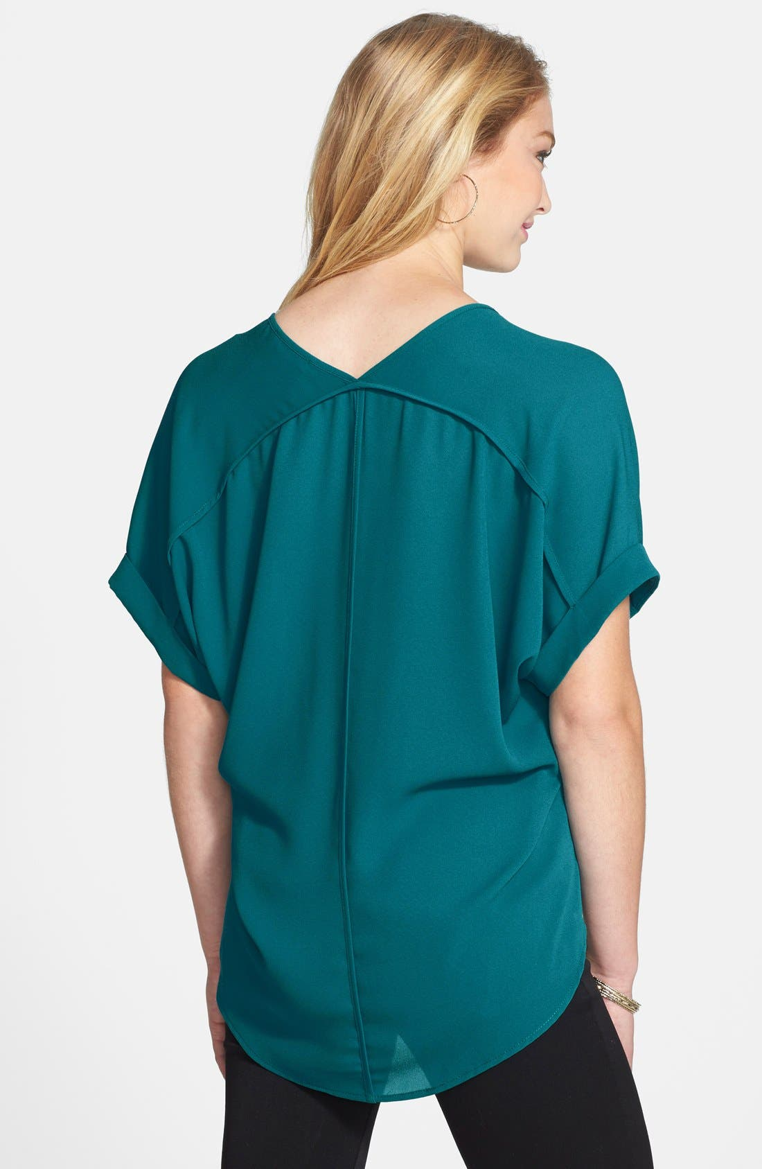 ,                             Lush Cuff Sleeve Woven Tee,                             Alternate thumbnail 41, color,                             301