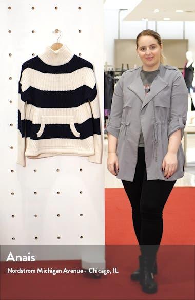 Kangaroo Pocket Stripe Turtleneck Sweater, sales video thumbnail