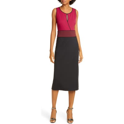 Dvf Joanne Colorblock Sleeveless Sheath Dress, Black
