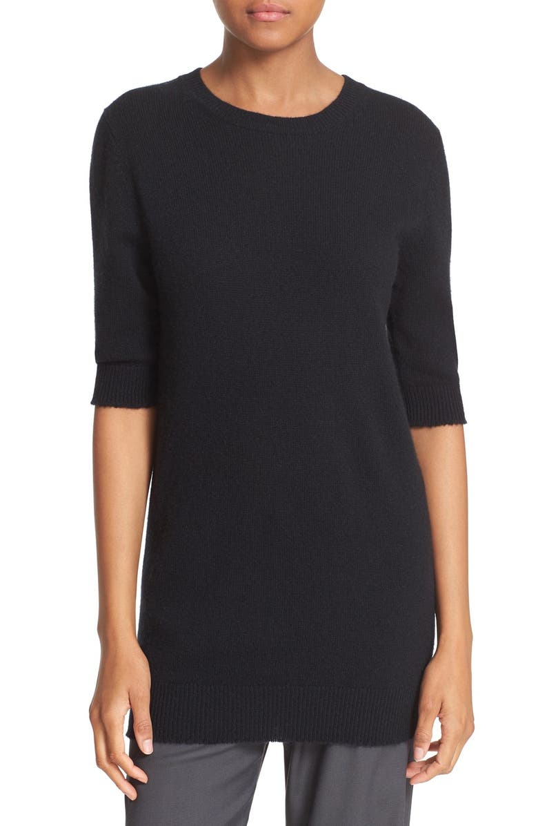 VINCE Elbow Sleeve Cashmere Sweater, Main, color, 001