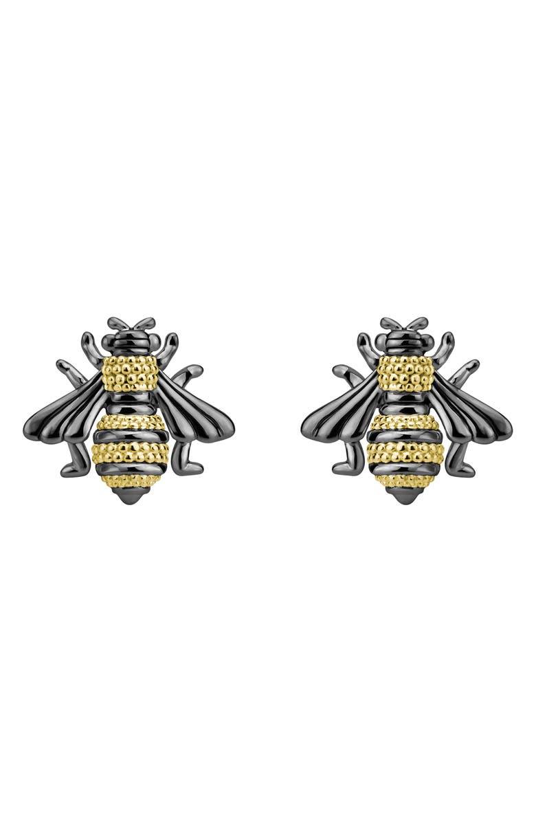 LAGOS Rare Wonders - Honeybee Stud Earrings, Main, color, SILVER/ GOLD