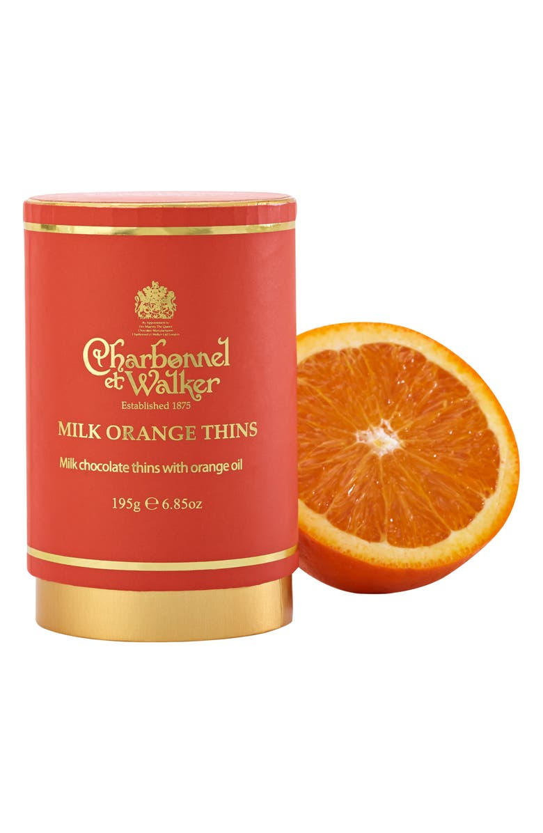 CHARBONNEL ET WALKER Milk Chocolate Orange Thins, Main, color, ORANGE