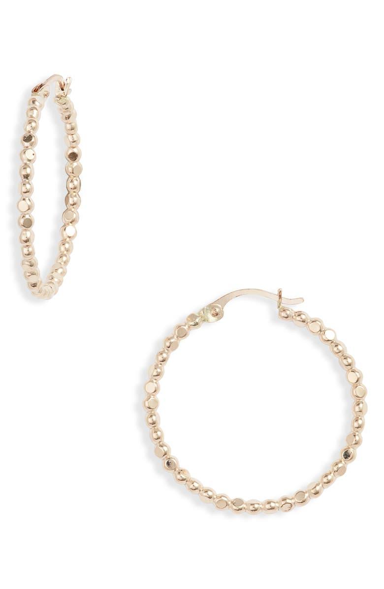SET & STONES Andie Standard Hoop Earrings, Main, color, 710