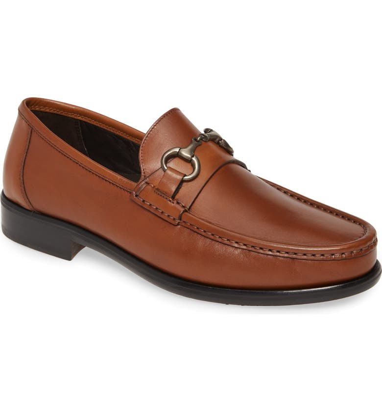 JOHNSTON & MURPHY Neilson Bit Loafer, Main, color, COGNAC LEATHER