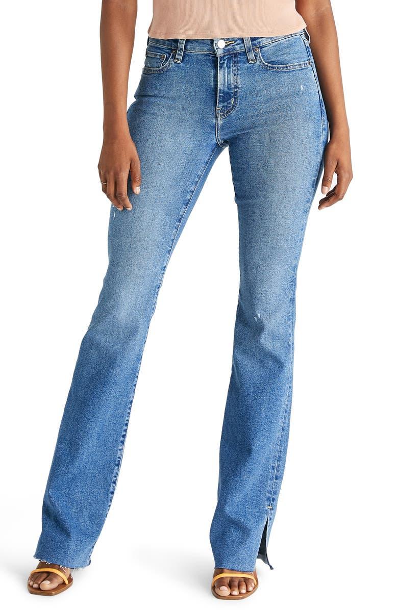 ÉTICA ETICA Kelly Slit Bootcut Jeans, Main, color, COYOTE CREEK