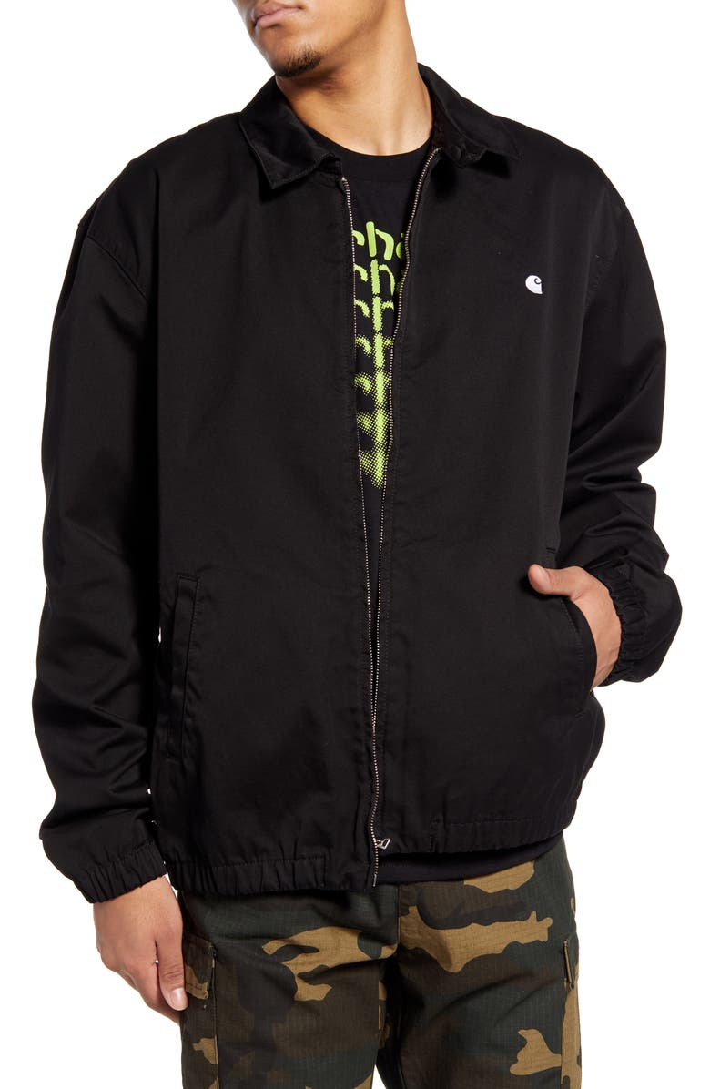 CARHARTT WORK IN PROGRESS Madison Twill Jacket, Main, color, BLACK/ WHITE