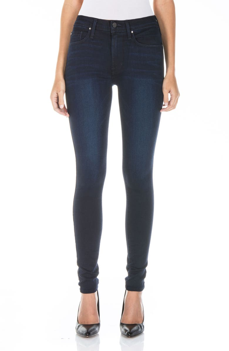FIDELITY DENIM Gwen High Waist Skinny Jeans, Main, color, FALCON BLUE