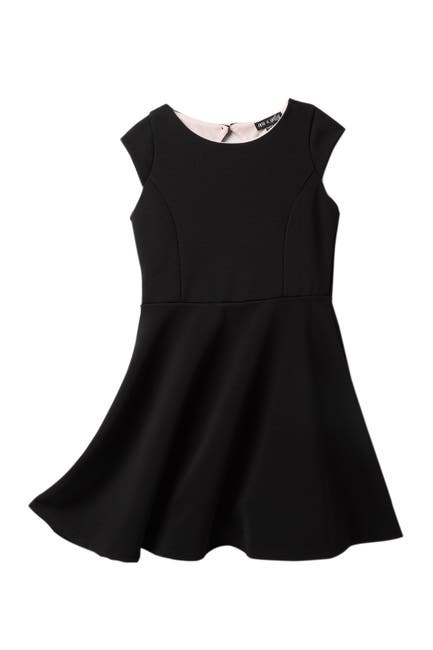 Image of AVA AND YELLY Cap Sleeve Skater Dress