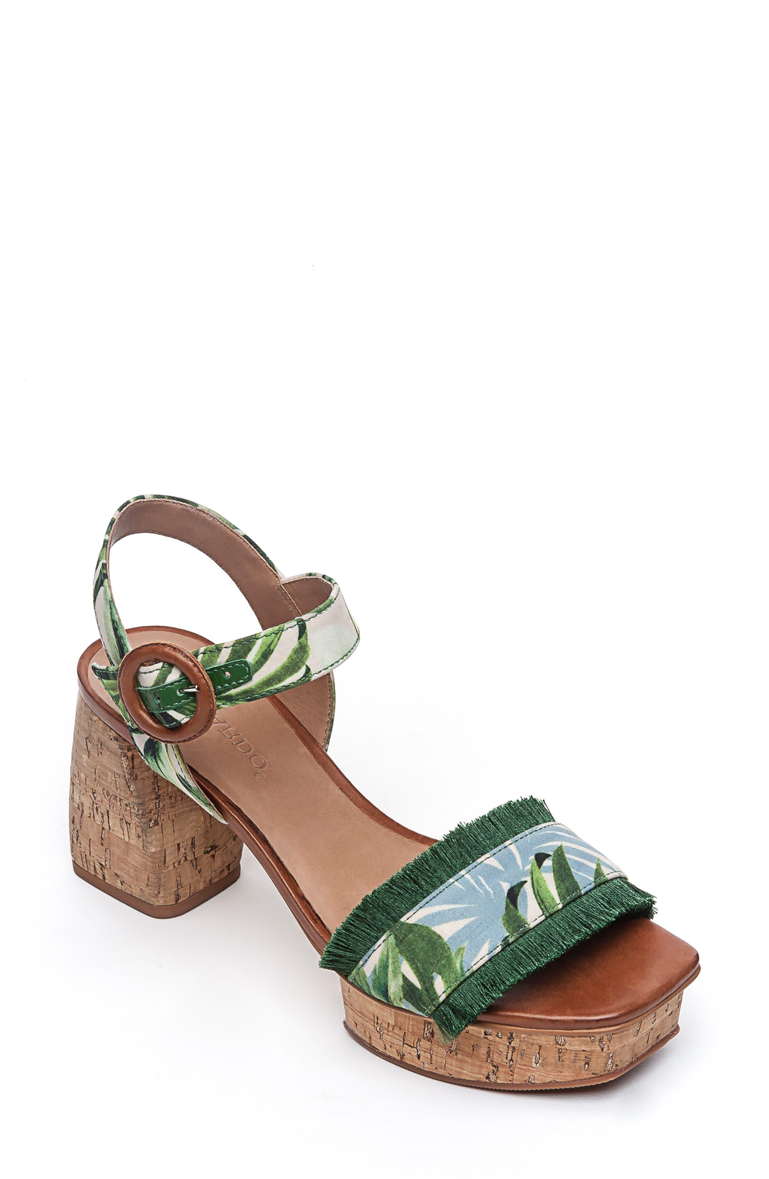 Bernardo Reagan Platform Sandal, Green