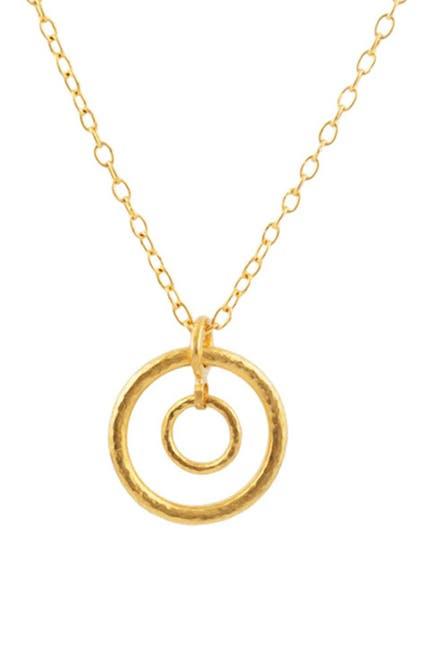 Image of Gurhan 22K/24K Gold Double Hoopla Pendant Necklace
