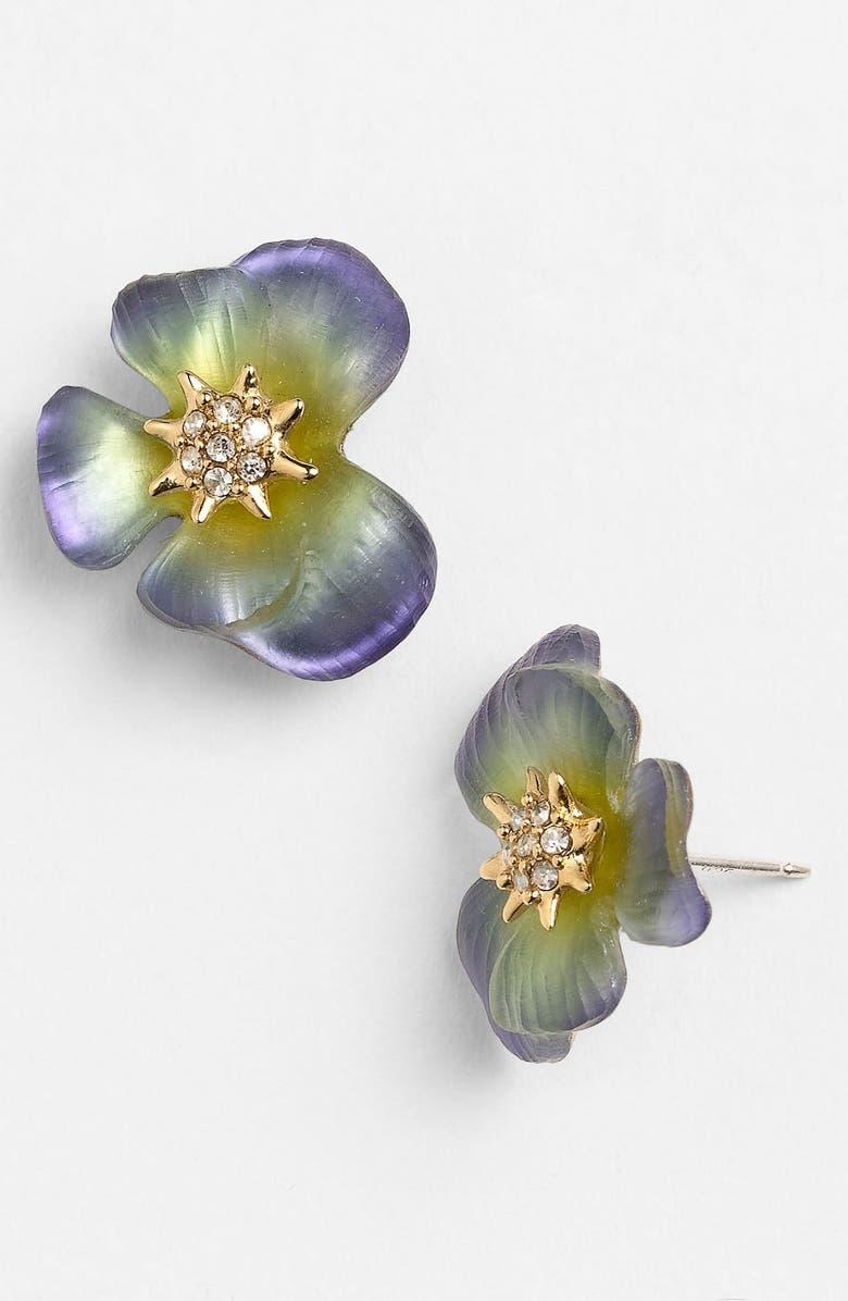 ALEXIS BITTAR 'Ophelia' Pansy Stud Earrings, Main, color, 400
