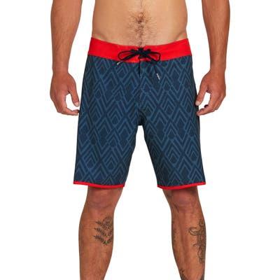 Volcom Echo Mod 19 Board Shorts, Blue