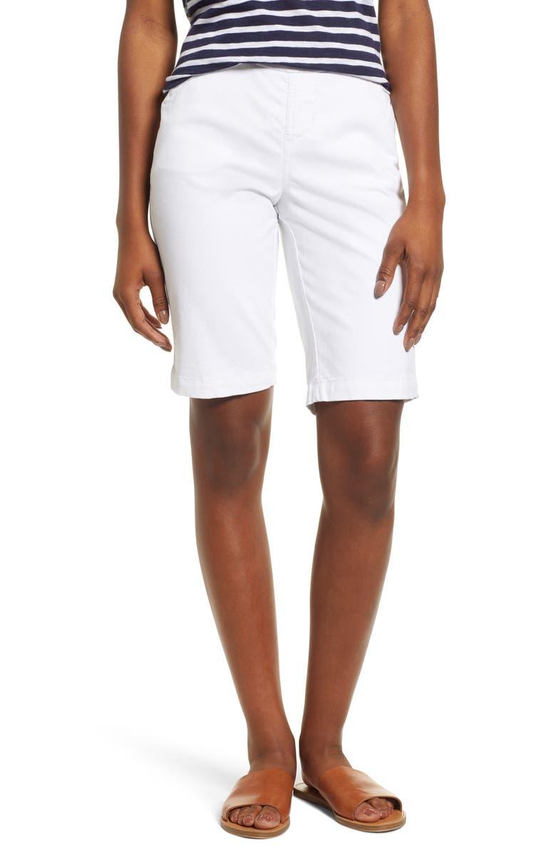 JAG JEANS Gracie Bermuda Shorts, Main, color, WHITE