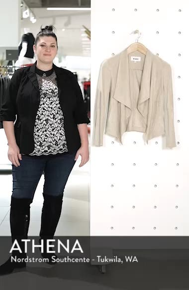 Wade Drape Front Faux Suede Jacket, sales video thumbnail