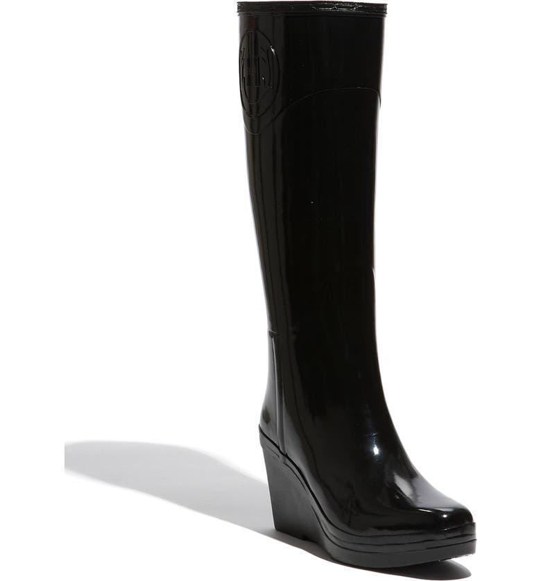 HUNTER 'Champray' Wedge Boot, Main, color, 001
