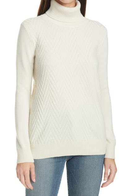 Club Monaco MIXED STITCH TURTLENECK CASHMERE SWEATER